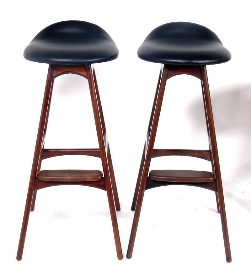 Danish Modern Bar Stools By Erik Buck For Sale At 1stdibs