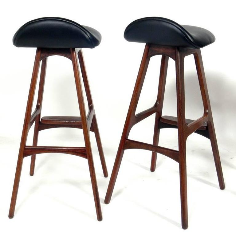 Danish Modern Bar Stools By Erik Buck At 1stdibs