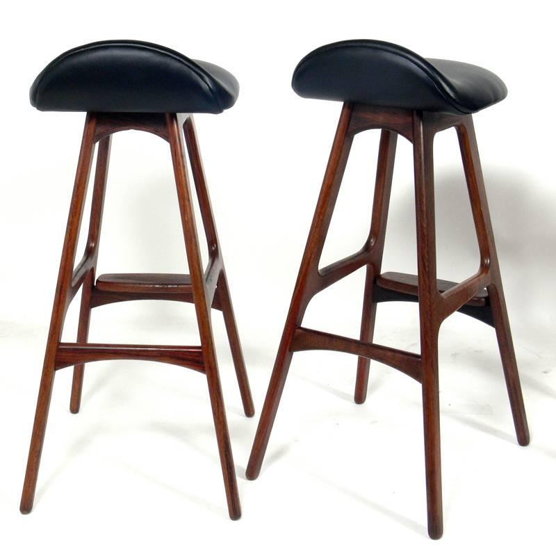 Danish Modern Bar Stools By Erik Buck For Sale At 1stdibs