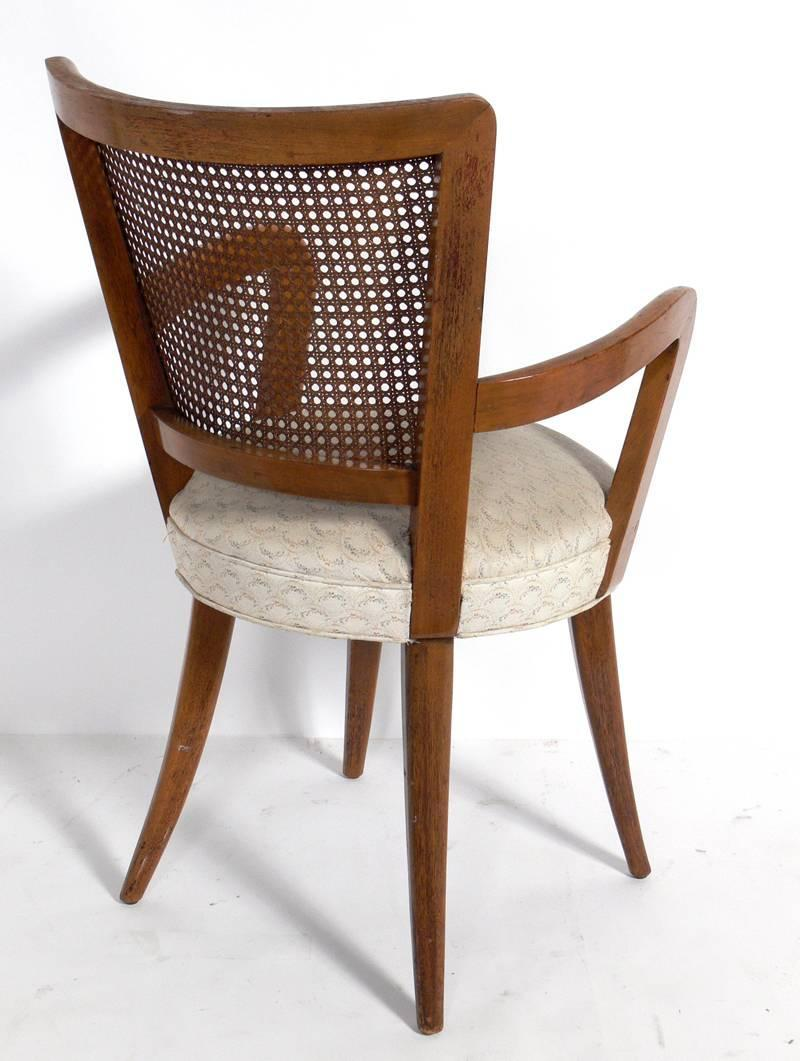 set of four dining chairs in the manner of vladimir kagan for sale at