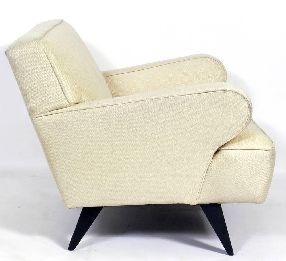 Mid century modern upholstered lounge chair for sale at for Mid century modern upholstered chair
