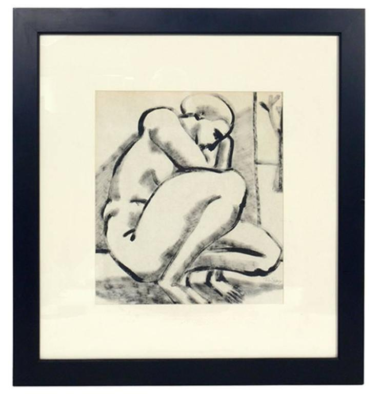 Mid-Century Modern Selection of Black and White Nude Artwork For Sale