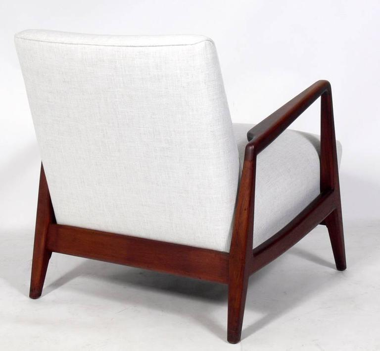 this mid century modern walnut lounge chair by jens risom is no longer