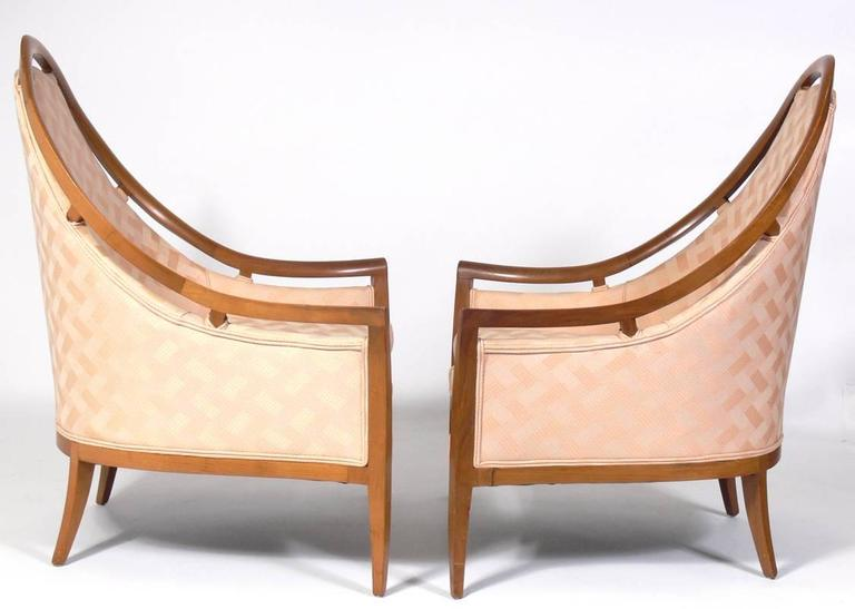 Mid-Century Modern Pair of Sculptural Arch Back Chairs Designed by Harvey Probber For Sale