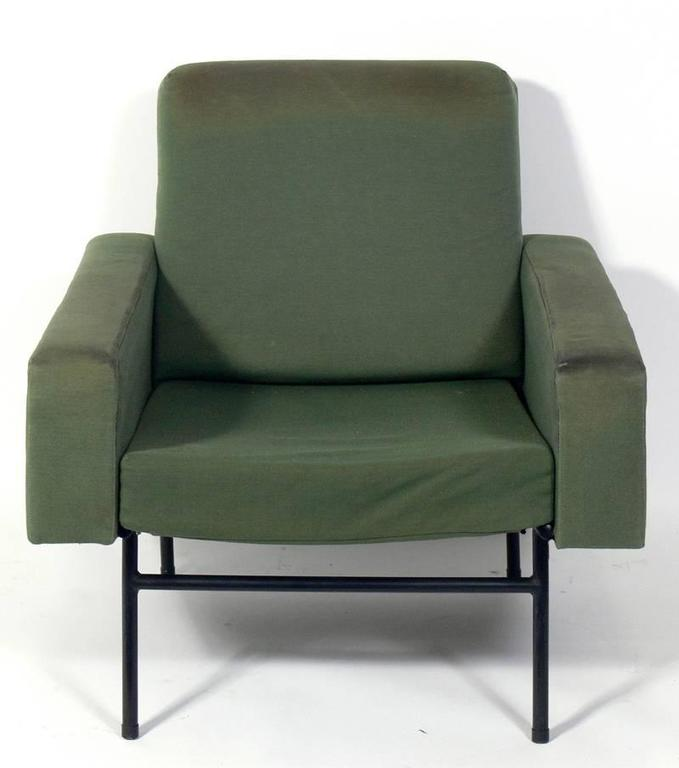 1950s Lounge Armchairs Re Upholstered In Multicolored: Pair Of Modern Lounge Chairs By Pierre Guariche For