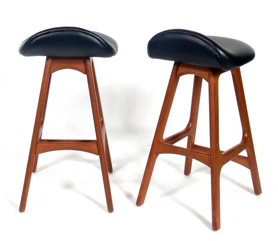 Danish Modern Bar Stools Designed By Erik Buck For Sale At 1stdibs