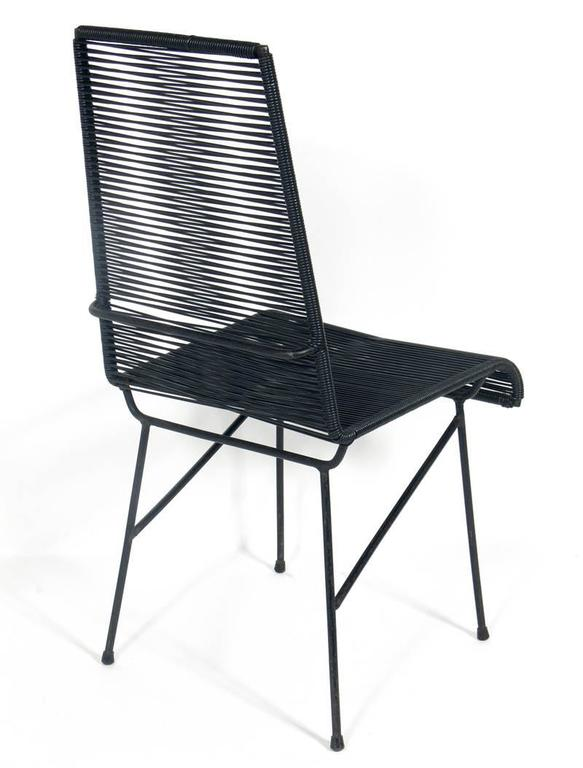 Set of eight tall iron and cord chairs for sale at 1stdibs for Tall patio chairs sale