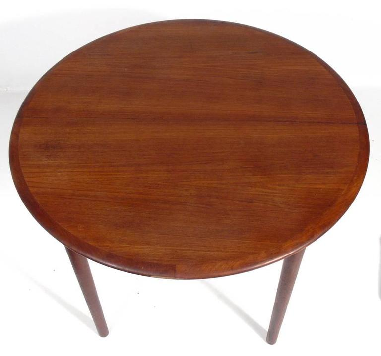 Danish Modern Teak Dining Table By Erik Christensen For
