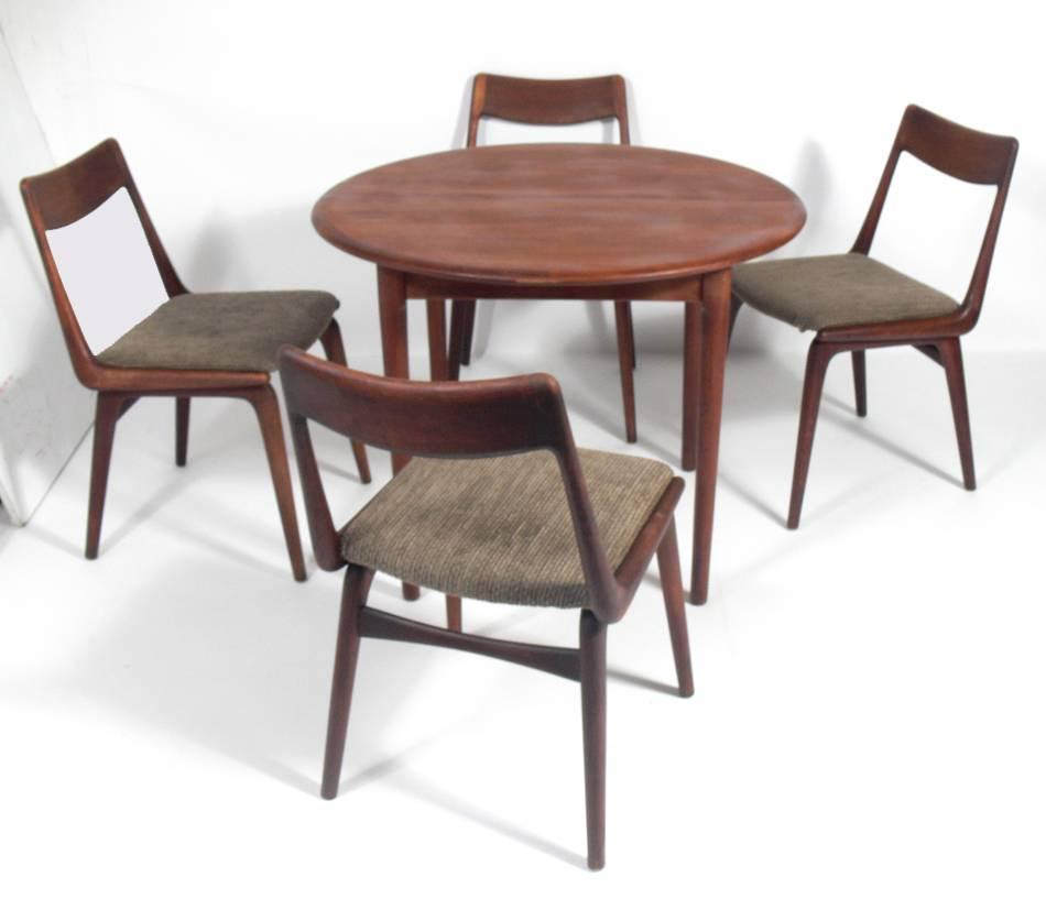 """Set of Four Danish Modern """"Boomerang"""" Dining Chairs by"""