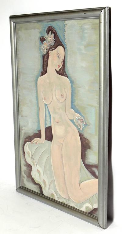 American Large-Scale Art Deco Nude Painting For Sale