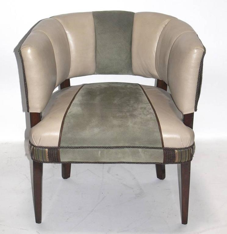 Lacquered Pair of Curvaceous Chairs Designed by Gilbert Rohde For Sale