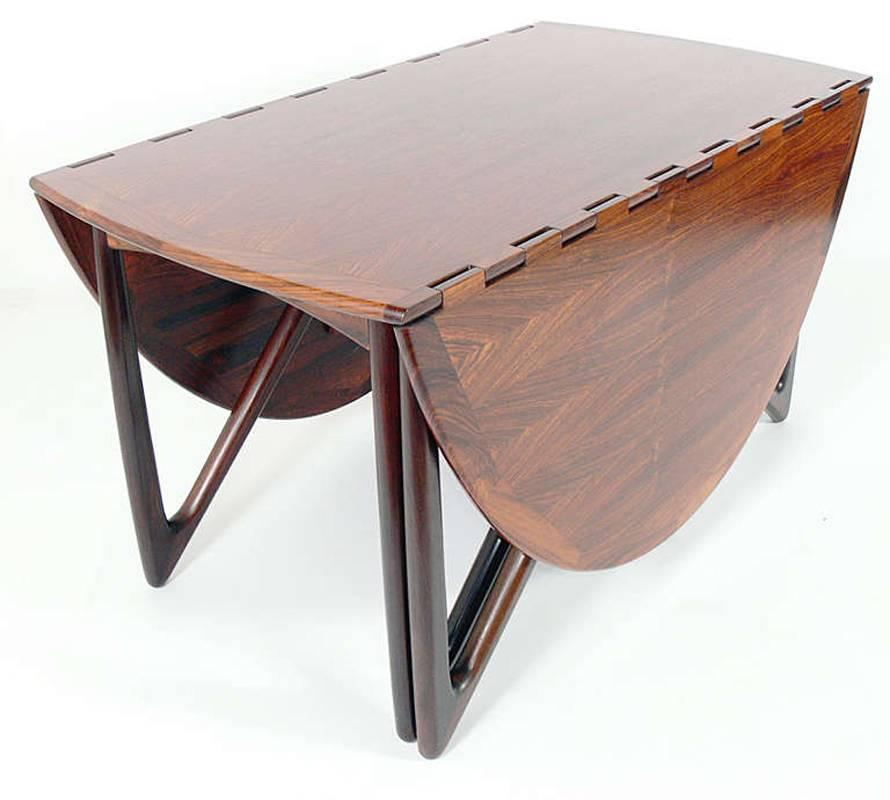 Oval Rosewood Danish Modern Dining Table By Kurt Ostervig For Sale At