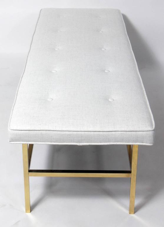 American Elegant Modern Brass Bench For Sale