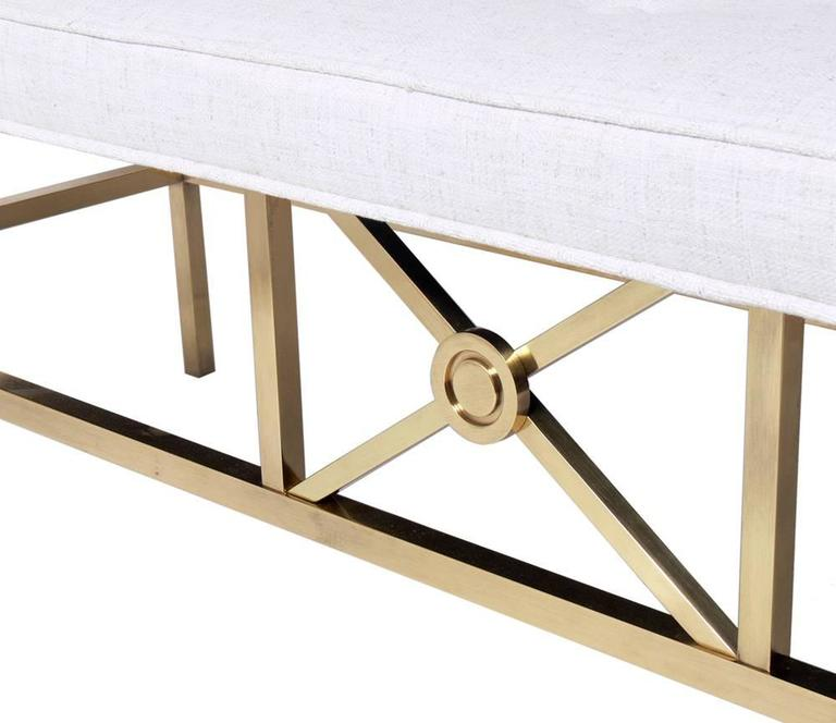 Elegant Modern Brass Bench In Excellent Condition For Sale In Atlanta, GA
