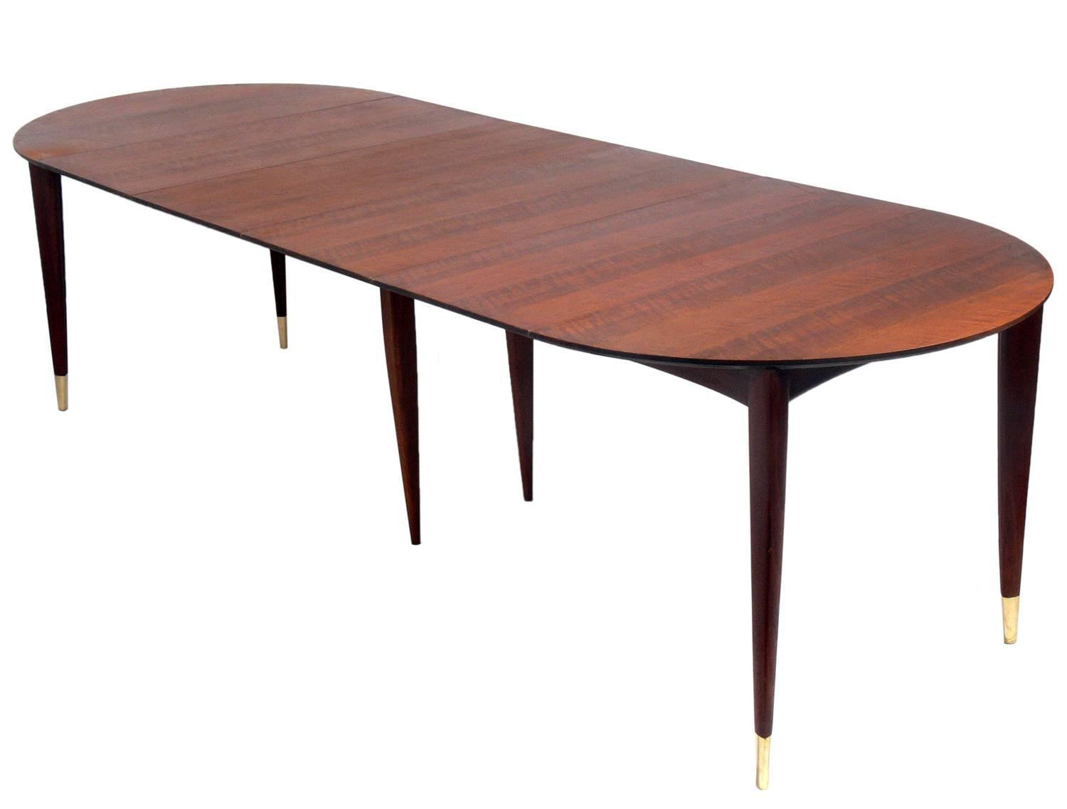 Elegant gio ponti dining table seats four twelve people for Dining room table 4 person