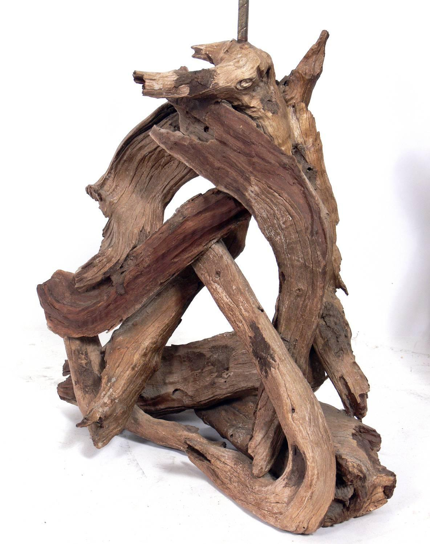 pair of sculptural driftwood lamps for sale at 1stdibs. Black Bedroom Furniture Sets. Home Design Ideas