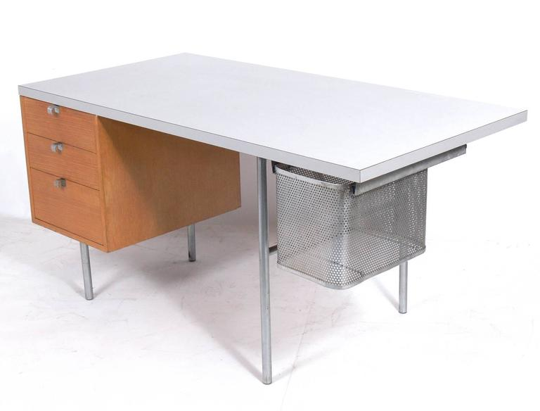 Clean Lined Desk Designed By George Nelson For Herman