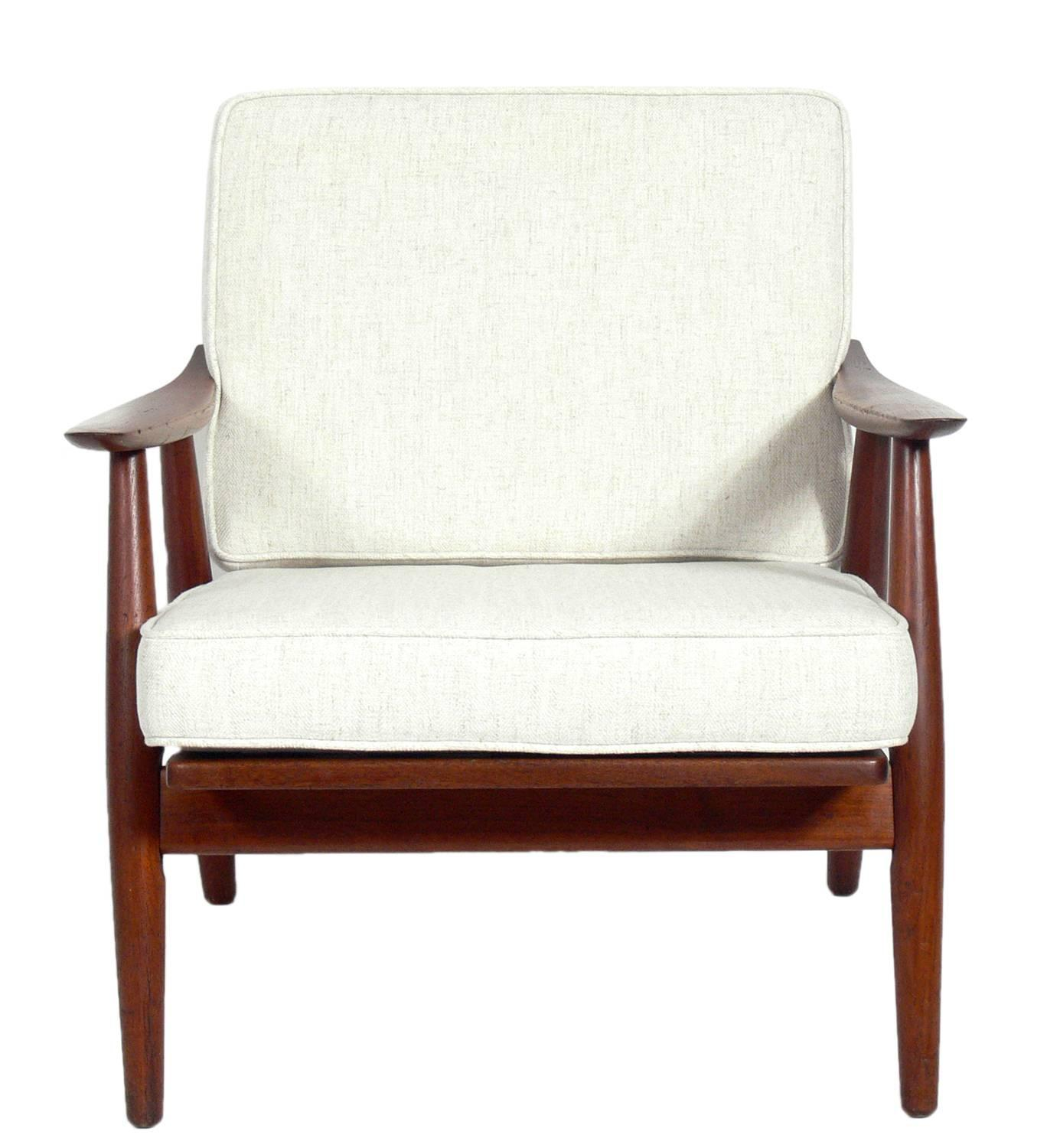 Pair Of Danish Modern Lounge Chairs By Hans Wegner For