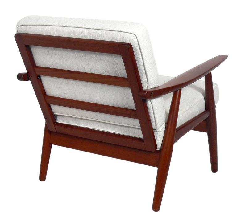 Pair of Danish Modern Lounge Chairs by Hans Wegner In Good Condition For Sale In Atlanta, GA