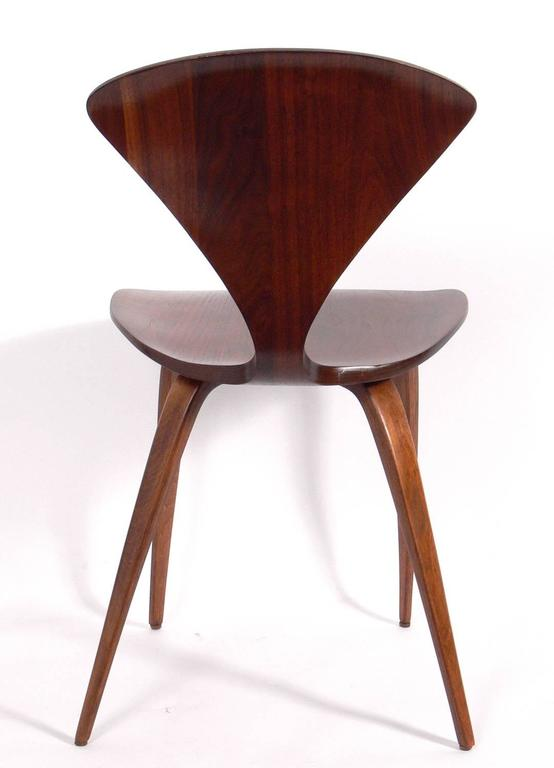 Walnut Set of 12 Sculptural Dining Chairs by Norman Cherner for Plycraft