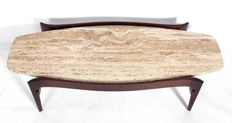 Sculptural Italian Modern Coffee Table By Bertha Schaefer For Sale At 1stdibs