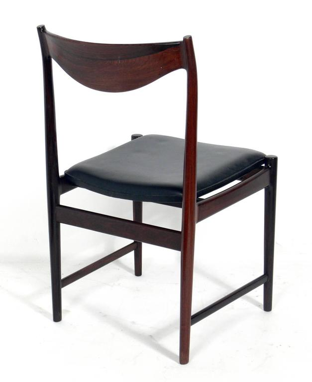 set of eight danish modern rosewood dining chairs designed by torbjorn