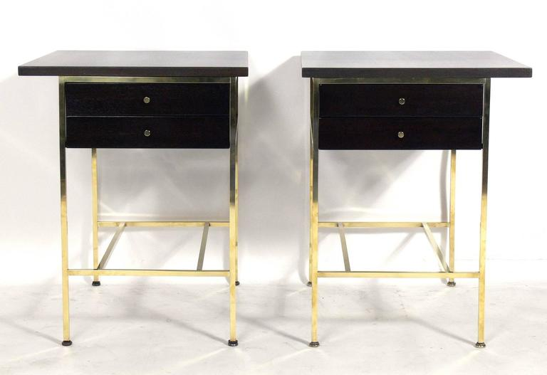 Pair of modern nightstands or end tables by paul mccobb for Modern nightstands for sale