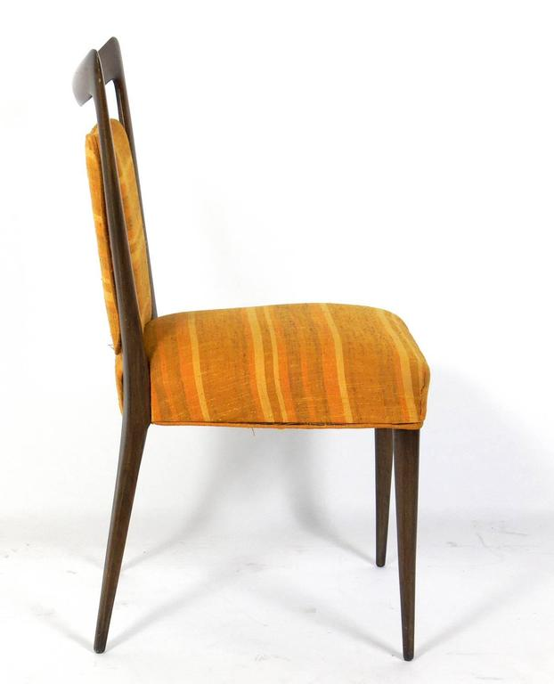 Mid-Century Modern Set of Four Italian Dining Chairs by Melchiorre Bega For Sale
