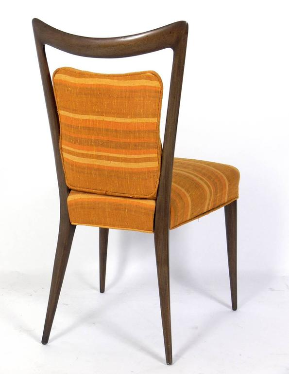 Set of Four Italian Dining Chairs by Melchiorre Bega In Good Condition For Sale In Atlanta, GA