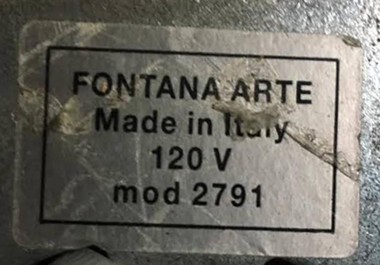 Italian Fontana Arte Velo Chandelier Designed by Franco Raggi For Sale