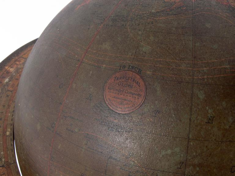 Early 20th Century Antique Library Globe For Sale
