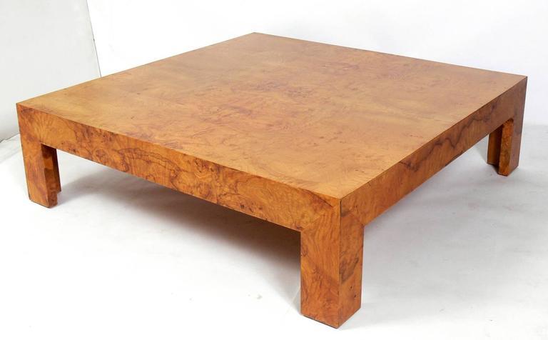 large-scale burl wood coffee tablemilo baughman at 1stdibs