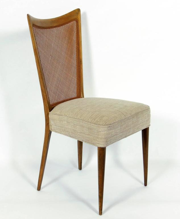 set of four caned back italian dining chairs by melchiorre bega for