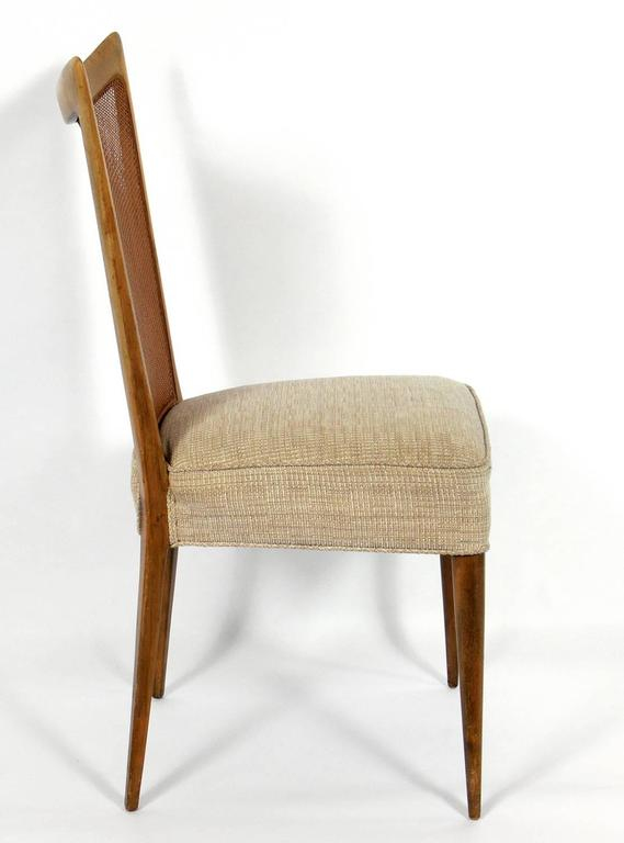Set of Four Caned Back Italian Dining Chairs by Melchiorre ...