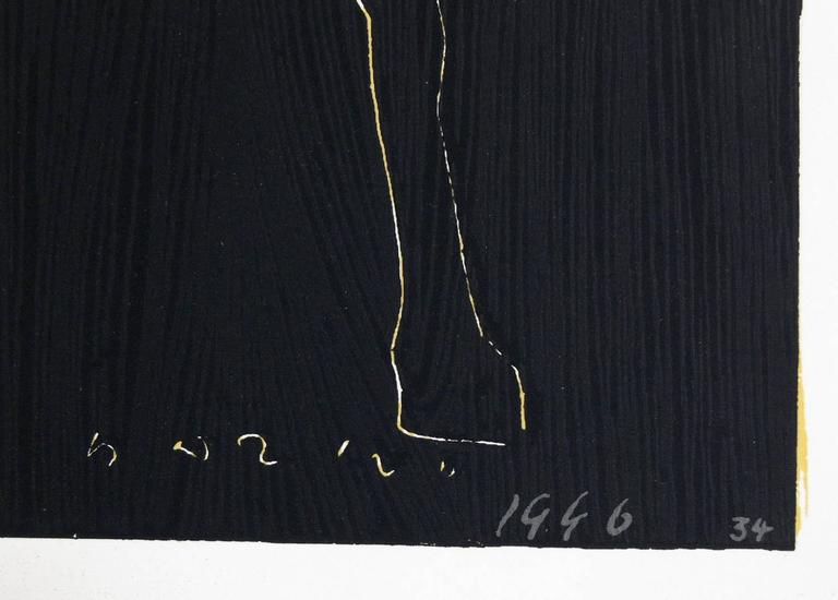 Pair of Horse and Rider Lithographs by Marino Marini In Good Condition For Sale In Atlanta, GA