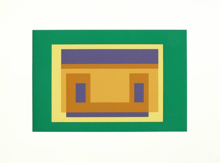 Pair of Josef Albers lithographs from Formulation and Articulation, published by Harry N. Abrams Inc., New York, and Ives Sillman Inc., New Haven, circa 1972. Unsigned edition of 1000. These two works are from Portfolio II, Folder 29. They have been