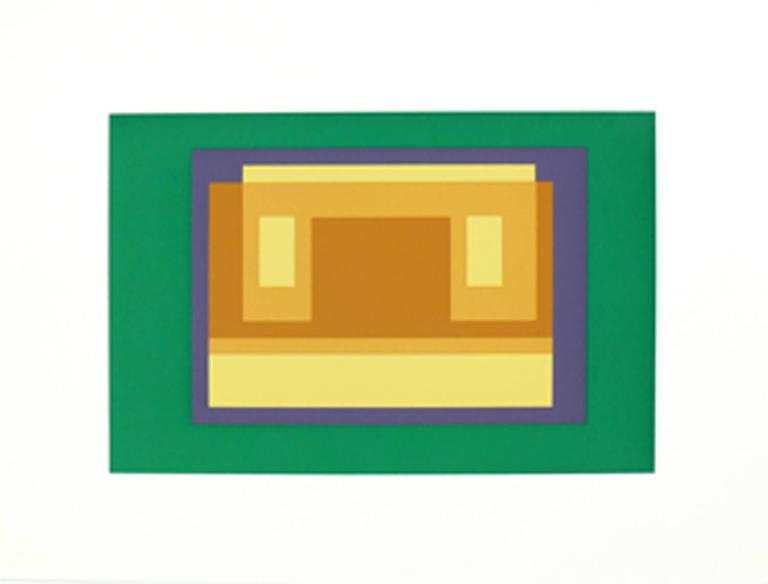 Mid-Century Modern Pair of Lithographs by Josef Albers from Formulation and Articulation For Sale