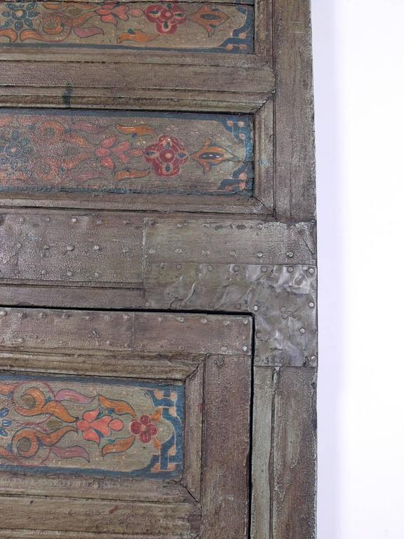 Pair Of Exotic Hand Painted Antique Moroccan Doors For