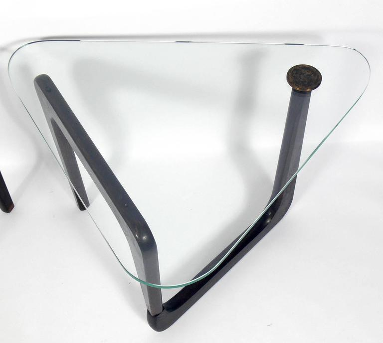 American Sculptural Modernist Side Tables in the Manner of Isamu Noguchi For Sale
