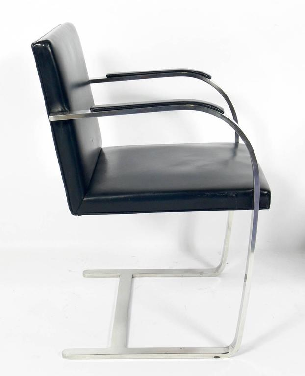 Pair of Brno Chrome Chairs by Mies Van Der Rohe for Knoll 3