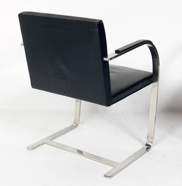 Pair of Brno Chrome Chairs by Mies Van Der Rohe for Knoll 4