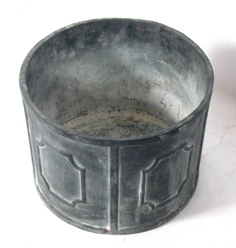 Stately lead planter circa late 19th century for sale at for Lead planters for sale