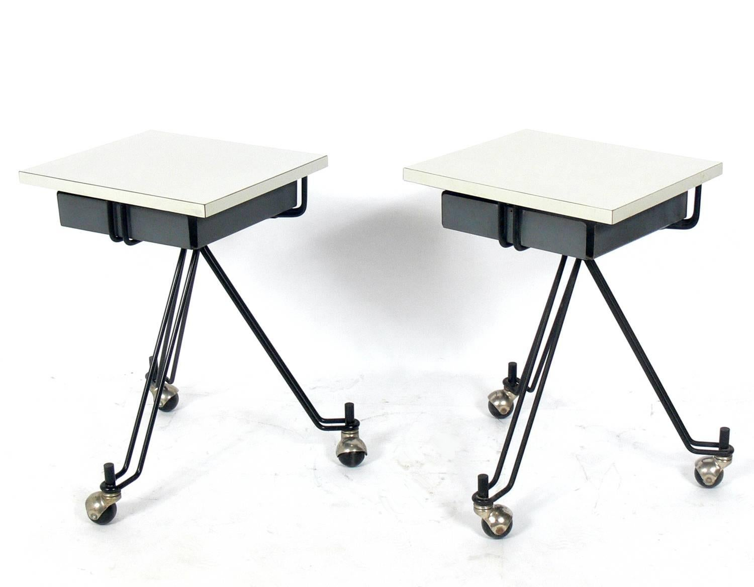 Pair Of Sculptural Tables Or Nightstands By Eliot Noyes For IBM For Sale At  1stdibs