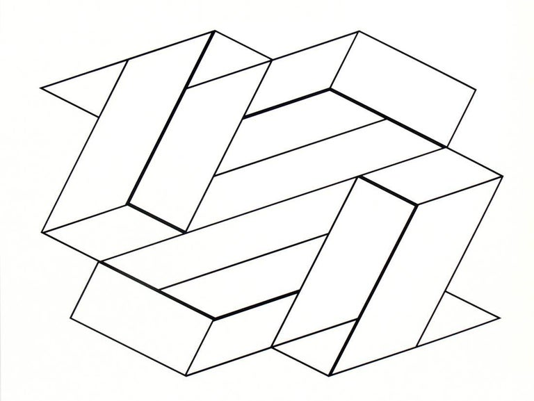 Mid-Century Modern Black and White Lithographs by Josef Albers from Formulation and Articulation For Sale