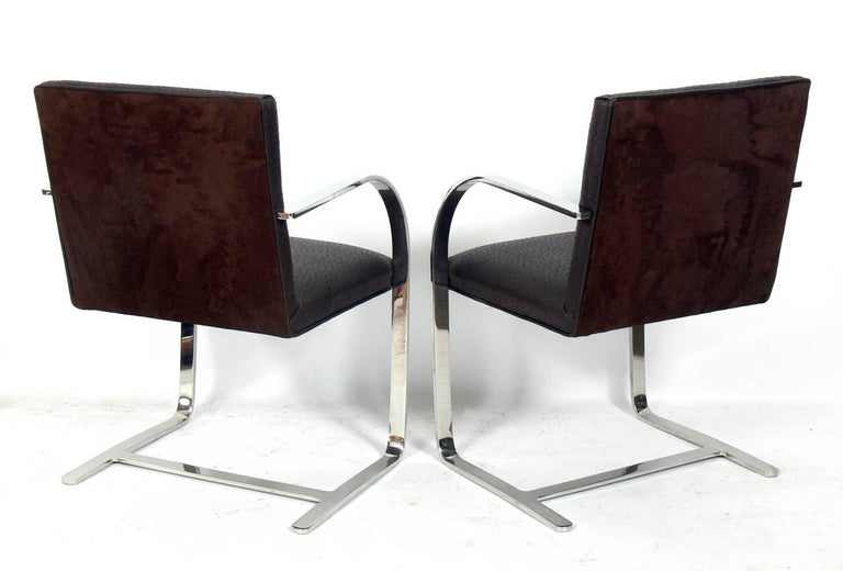 American Set of Four Brno Chrome Dining Chairs after Mies van der Rohe For Sale