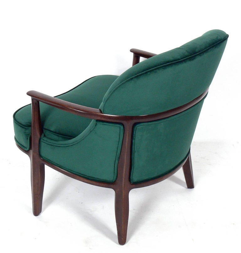 American Pair of Tufted Lounge Chairs by Edward Wormley for Dunbar For Sale