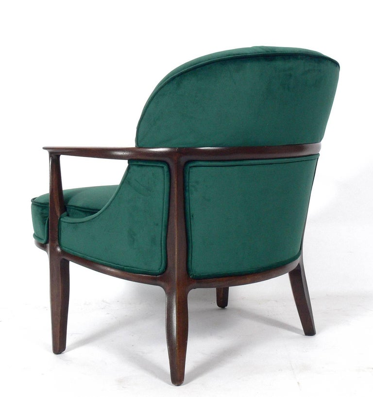 Mid-Century Modern Pair of Tufted Lounge Chairs by Edward Wormley for Dunbar For Sale
