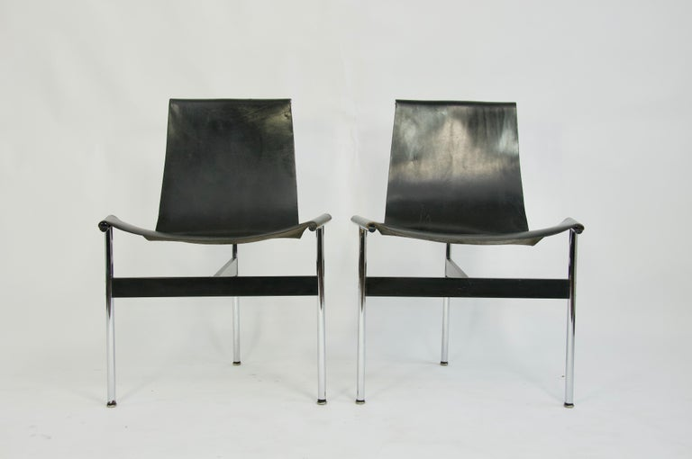 Mid-Century Modern Pair of T-Chairs by William Katavolos Littell and Kelly For Sale
