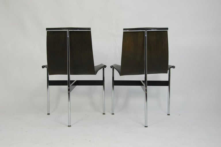 Pair of T-Chairs by William Katavolos Littell and Kelly In Good Condition For Sale In Pelham, MA