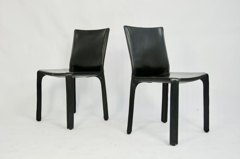 Classic pair of black leather